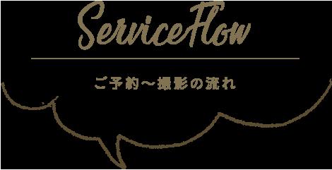 ServiceFlow ご予約〜撮影の流れ